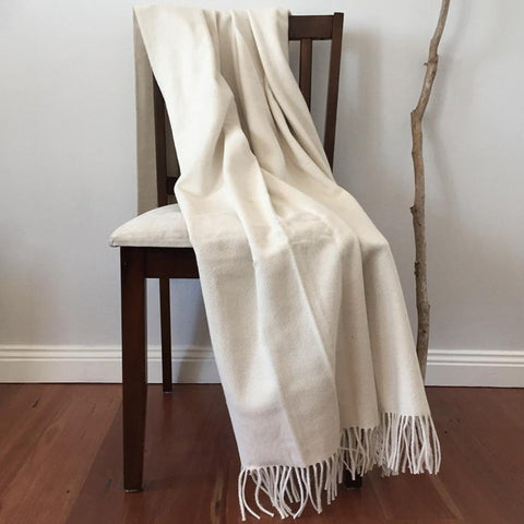 Alpaca Wool Cotton Blend Blanket