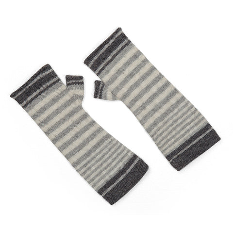 Alpaca Blend Wool Stripe Arm Warmer