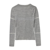 Alpaca Wool | Grey Cardigan | Cardigans for Women | Alpaca cardigan - back