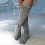 Alpaca Socks | Alpaca Wool | Handcrafted Organic Cotton - grey socks