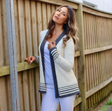 Alpaca Wool | Ladies Cardigan | Organic Clothing - Front with model