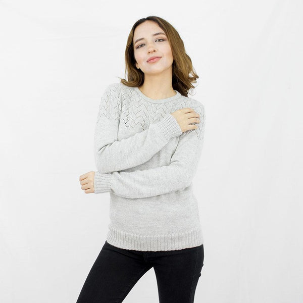 Baby Alpaca Wool Laced Jumper
