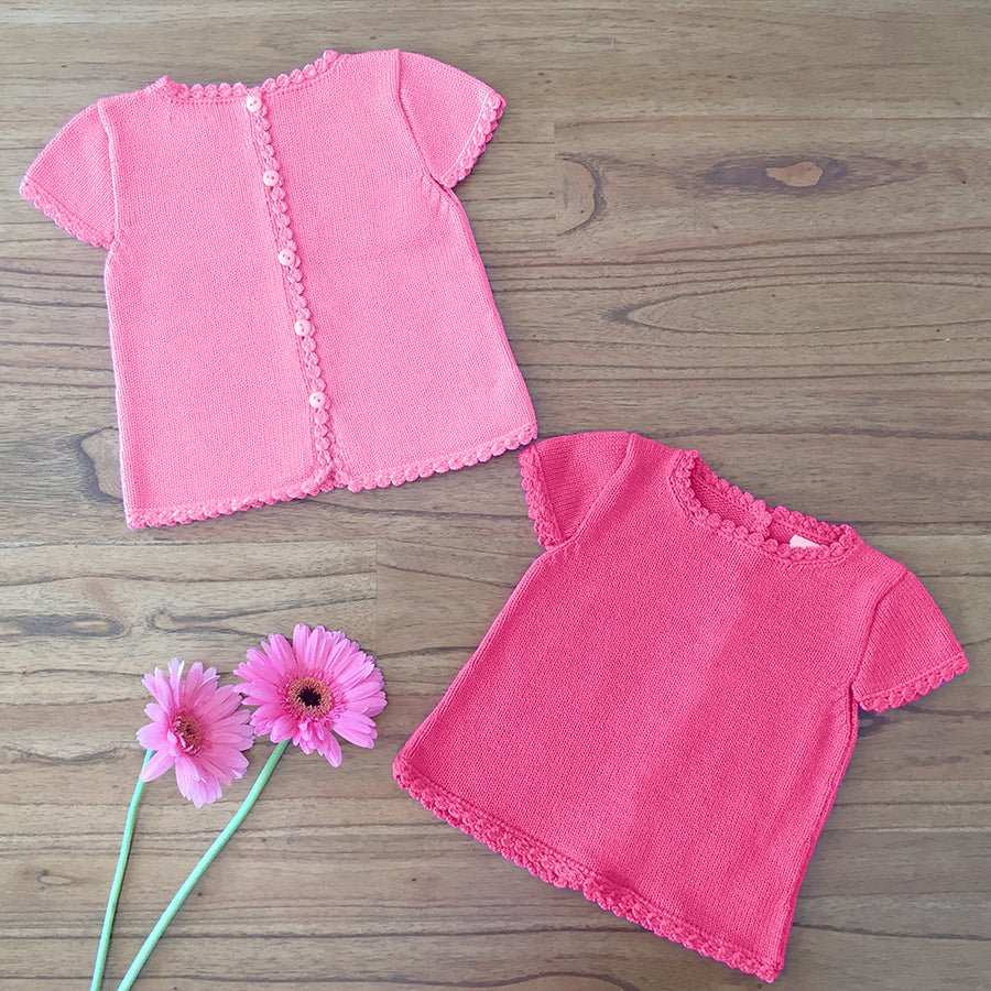 Pink Summer Top Set | Girls Clothes | Organic Baby Clothes