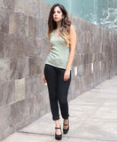 olive green summer top
