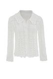 White Organic Cotton Cardigan | Cardigan for Women | Organic Clothing - front