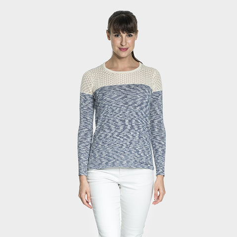 Organic Cotton blend Laced knit