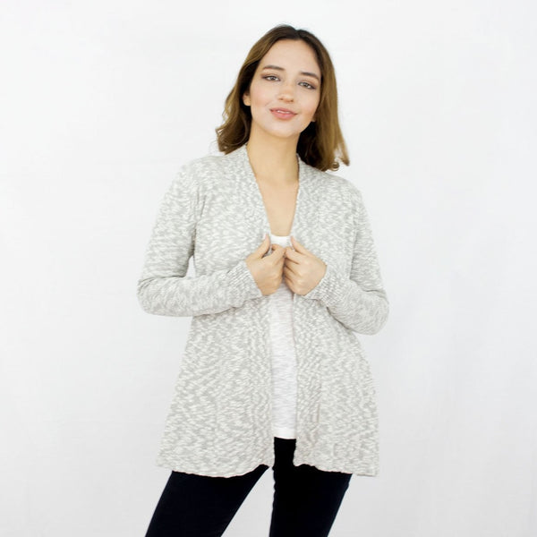 Organic cotton open cardigan