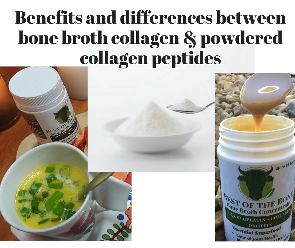 Bone Broth Gelatin and Powdered Collagen Hydrolysate: Benefits?  And is there a difference?