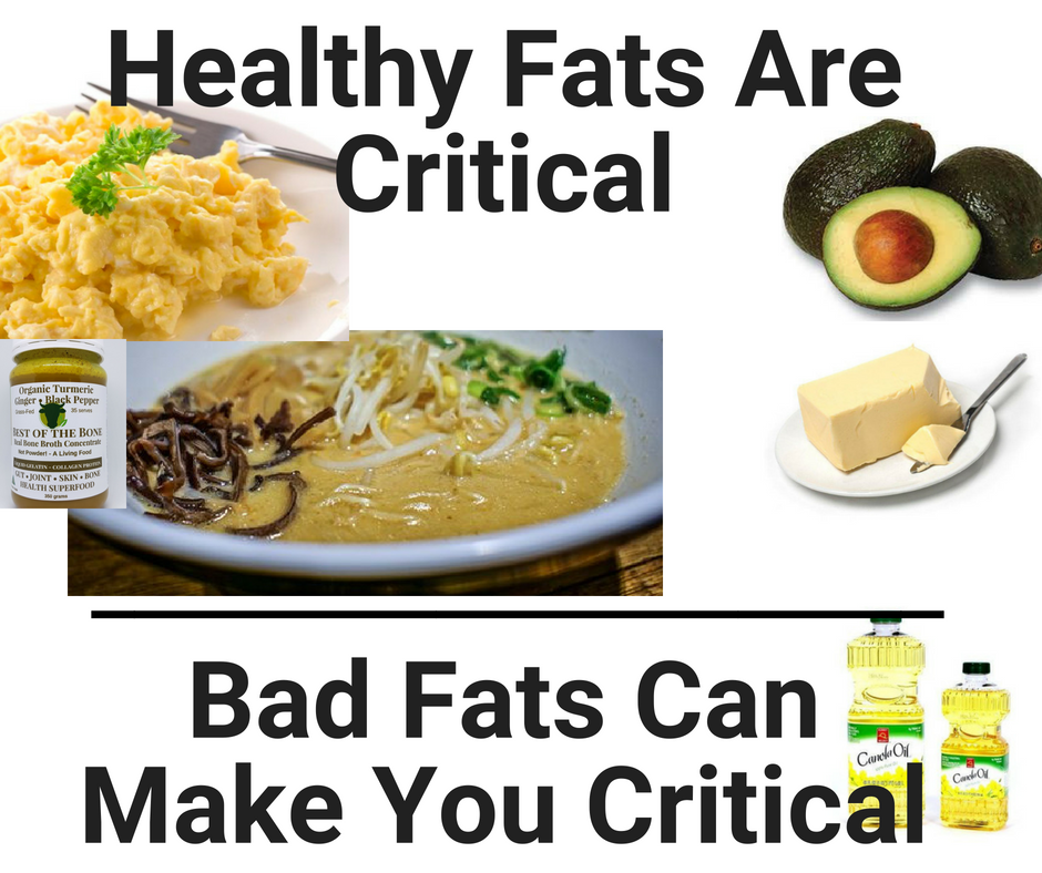 Healthy Fats Are Critical - Bad Fats Can Make You Critical (condition)