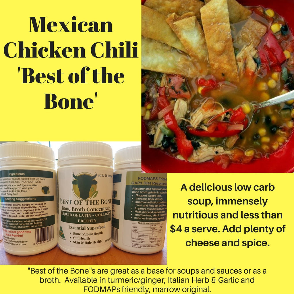 "Mexican Chicken Chili ""Best of the Bone"" - A Healthy Fiesta"