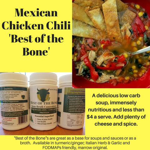 Best of the Bone Mexican Chicken Chili dish
