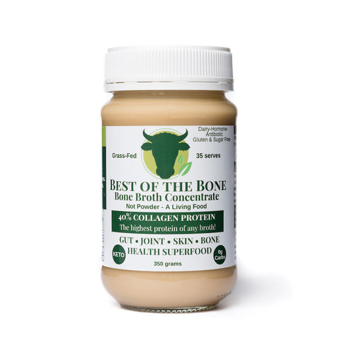 Best of the Bone - grass-fed certified beef bone broth concentrate - the highest in bioavailable collagen protein!