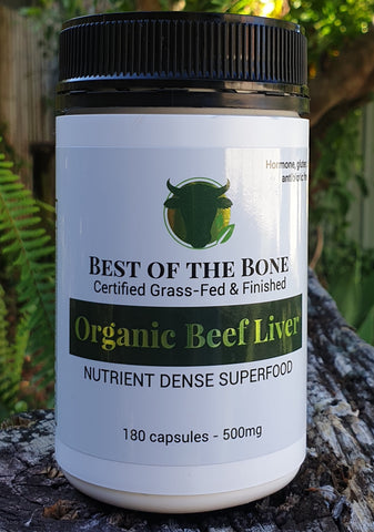 Organic Best of the Bone grass-fed Beef Liver Capsules