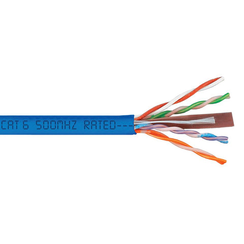 Cat6 Plenum Bare Copper 1000ft Solid Conductor| Ethernet Cable UTP