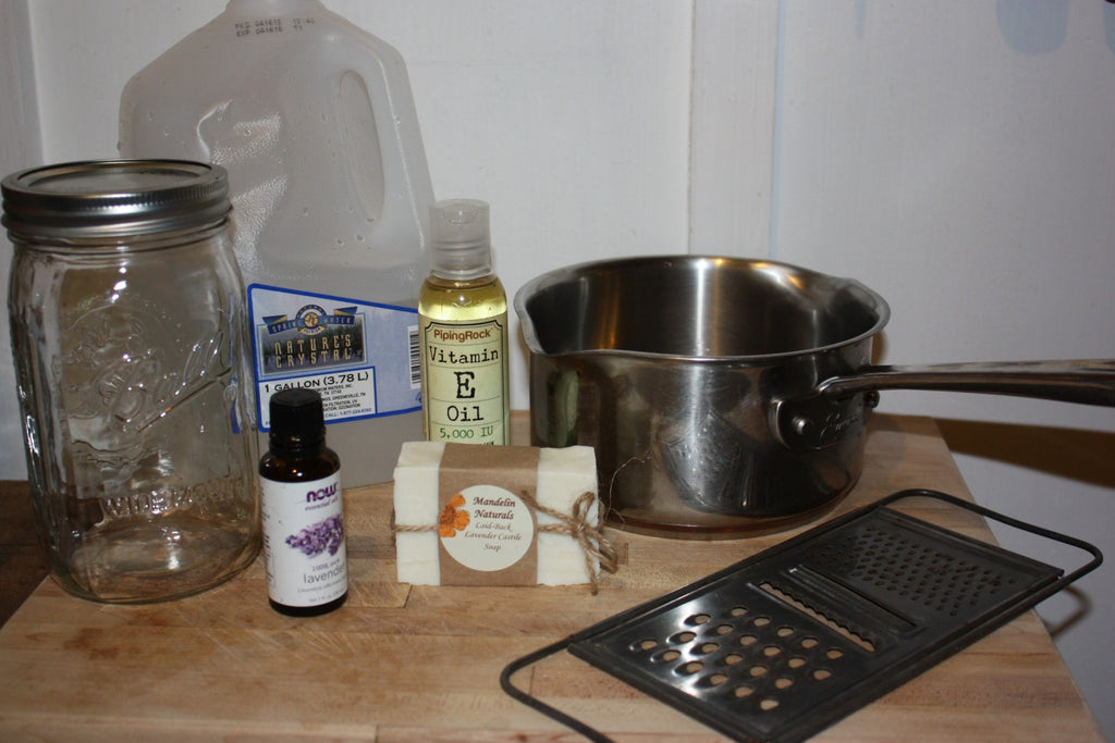 How to Make Your Own Liquid Castile Soap