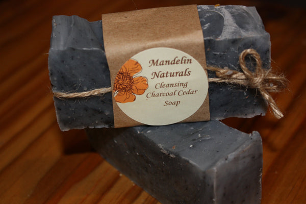 Cleansing Charcoal Cedar Soap