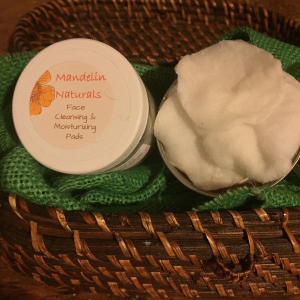 Natural Face Cleansing & Moisturizing Pads