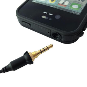 Headphone AUX Waterproof Cable Plug Adapter for Apple iPhone 4S 4 LifeProof Case