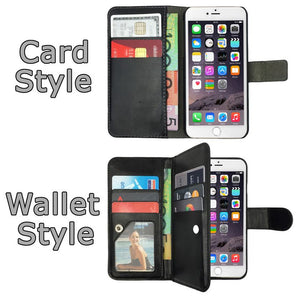 Leather Flip Stand Case Magnetic Wallet PU Gel Cover For Apple iPhone 7, 7 Plus