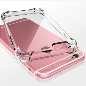 Shockproof Tough Gel Clear Case Cover for Apple iPhone 6S