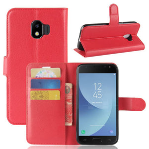 Leather Flip Case Wallet Gel Cover Stand For Samsung Galaxy J1 2016 (J16)
