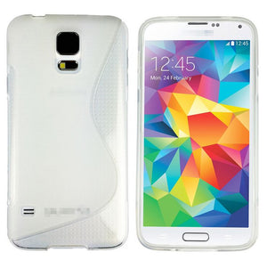 Gel TPU Silicone S Curve Back Cover Case for Samsung Galaxy S5 4G G900F i9600
