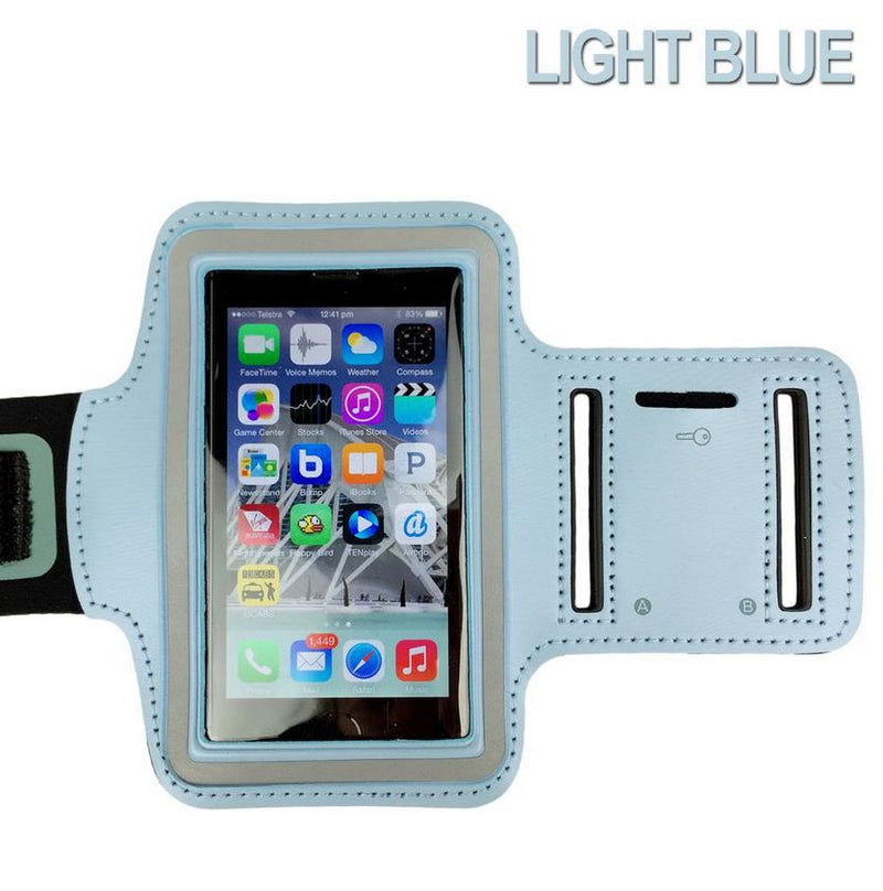 LIGHT BLUE Sports Gym Running Exercise Armband for Apple iPhone SE 5S 5C 5 4S 4