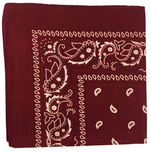 BANDANA Paisley 100% COTTON Head Wrap Durag Bandanna Summer Scarf Headwrap Mask