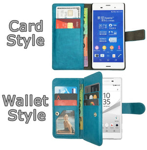 Premium Leather Flip Case Wallet Stand Cover For SONY Xperia Z1 Z2 Z3 Z5 Compact