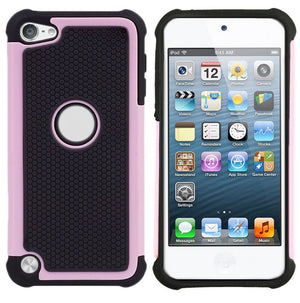 Heavy Duty Armor Case Tough Gel Hybrid Hard Cover for Apple iPod Touch 5 6th Gen