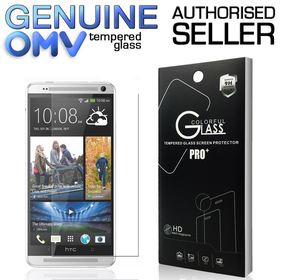 GENUINE Tempered Glass Screen Protector Scratch Resistant Film for HTC One M7
