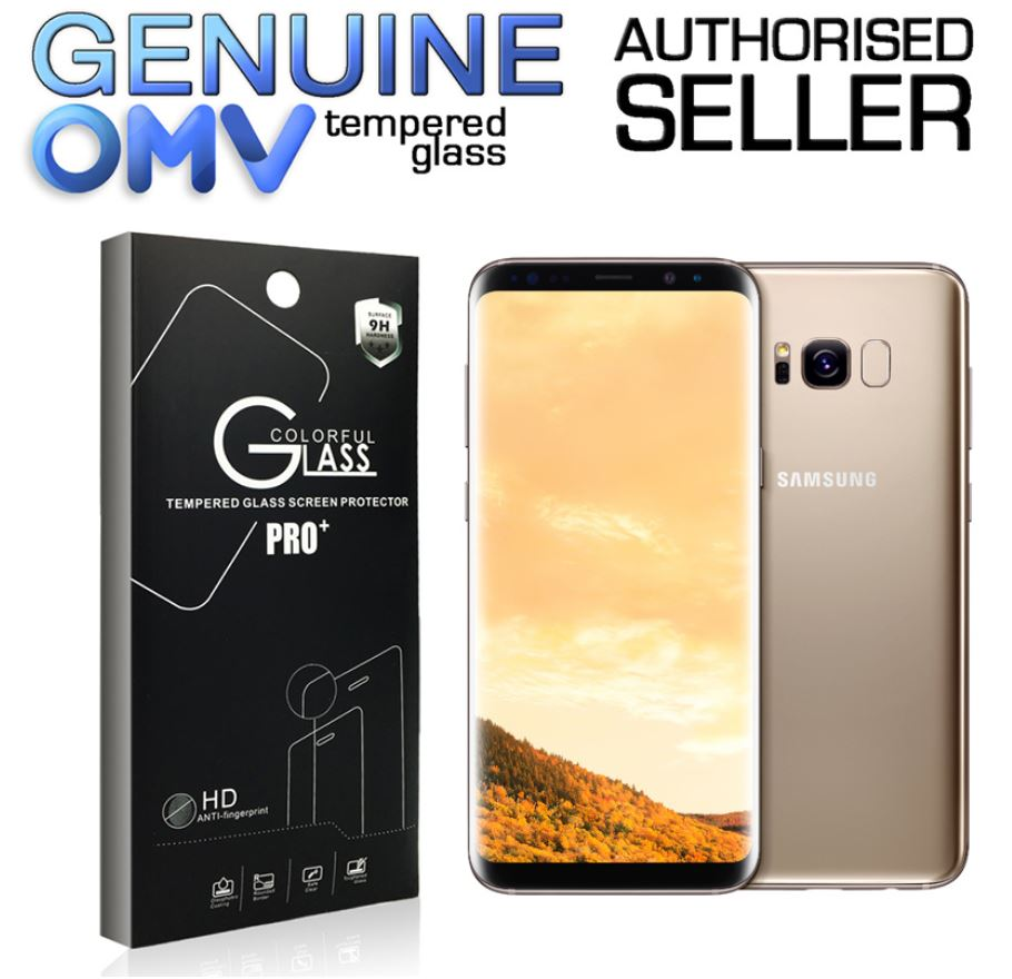 GENUINE Tempered Glass Screen Protector Tough Film for Samsung Galaxy S8 Plus +