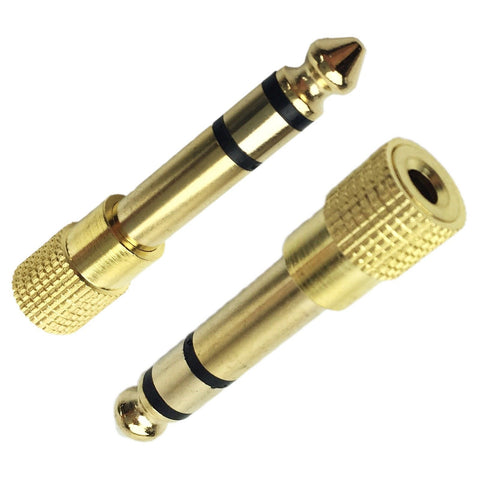 "3.5mm GOLD Headphone Stereo Adapter to 6.35mm Jack Earphone 1/4"" Audio Adapter"