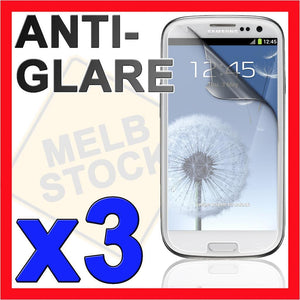 3x Anti Glare Matte Screen Protector LCD Film Guard for Samsung Galaxy S3 i9300