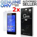 2 x GENUINE Tempered Glass Screen Protector Film for Sony Xperia Z3 Compact