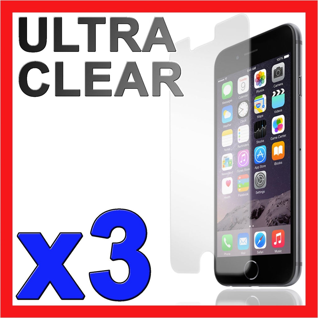 "3x Ultra Clear LCD Screen Protector Film for Apple iPhone 6 6S 4.7"" 6 Plus 5.5"""