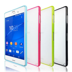 PC Hard & Soft Gel Cover Case Matte Back Slim TPU Cover Sides for SONY Xperia Z3