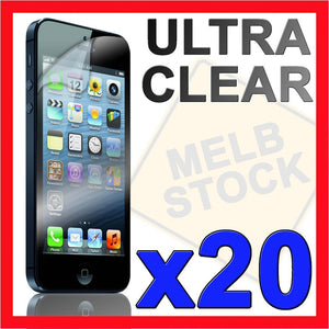 20x Ultra Crystal Clear LCD Screen Protector Film Case for Apple iPhone 5S 5C 5