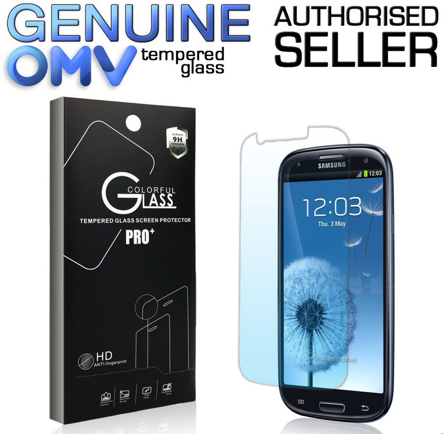 GENUINE Tempered Glass Screen Protector Film for Samsung Galaxy S3 SIII i9300