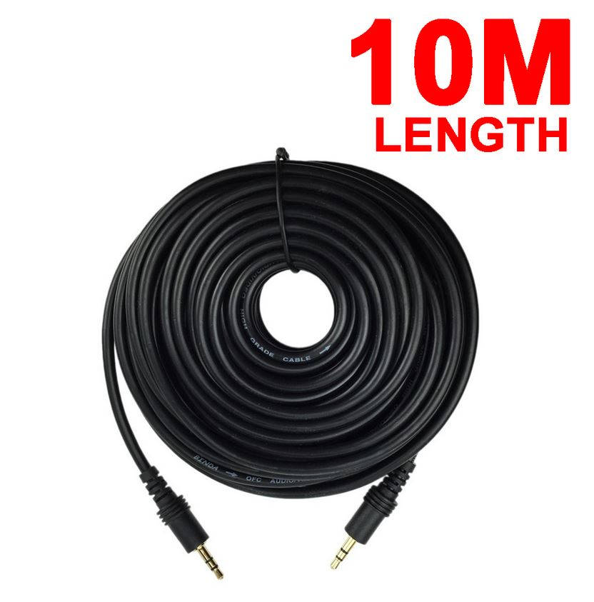 10m AUX Cable 3.5mm Stereo Audio Input Extension Male to Male Auxiliary Car Cord