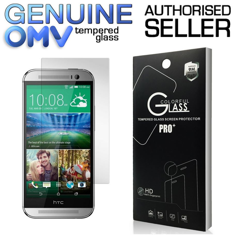 GENUINE Tempered Glass Screen Protector Scratch Resistant Film for HTC One M8