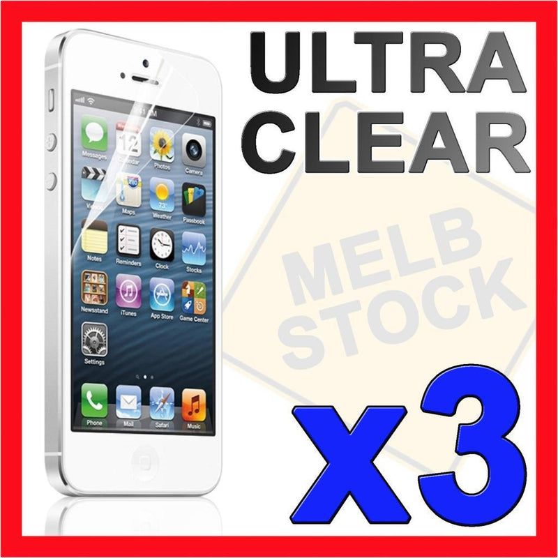 3x Ultra Clear LCD Screen Protector Film Guard Cover for Apple iPhone 5S 5C 5 SE