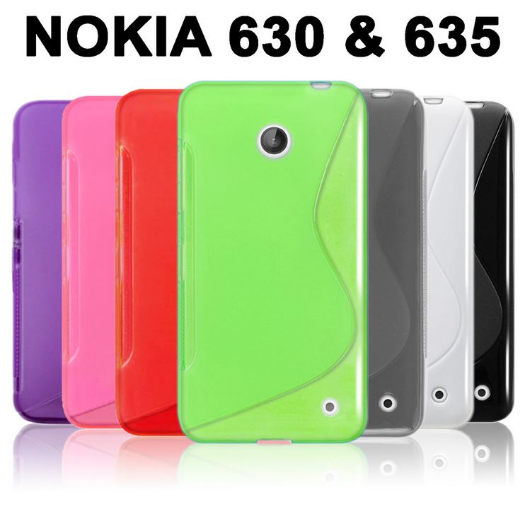 Gel Case S Curve Slim Soft Thin Cover + Screen Protector for Nokia Lumia 630 635