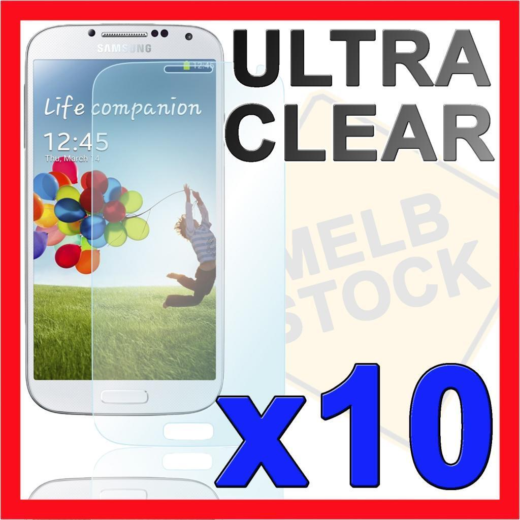 10x Ultra Clear Screen Protector Film Skin for Samsung Galaxy S4 SIV i9500 i9505