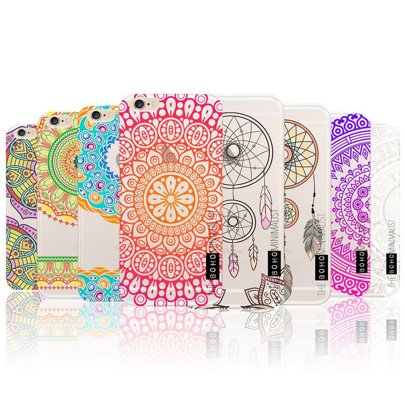 Mandala Dream Catcher Marble Gel Case Cover for Apple iPhone 5 5S SE 6 6S Plus 7