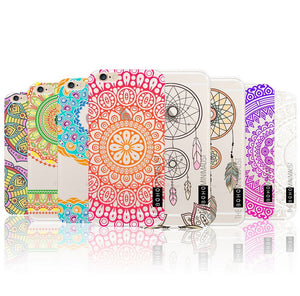 Marble DreamCatcher Pattern Gel Case Cover for Apple iPhone 5 5S SE 6 6S Plus 7