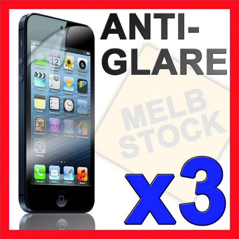 3x Anti Glare Matte Screen Protector LCD Film Cover NEW for Apple iPhone 5S 5C 5