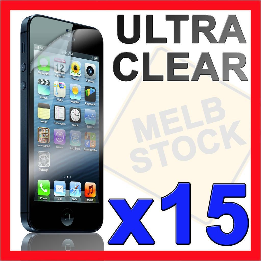 15x Ultra Clear LCD Screen Protector Cover Film Skin for Apple iPhone 5S 5C 5