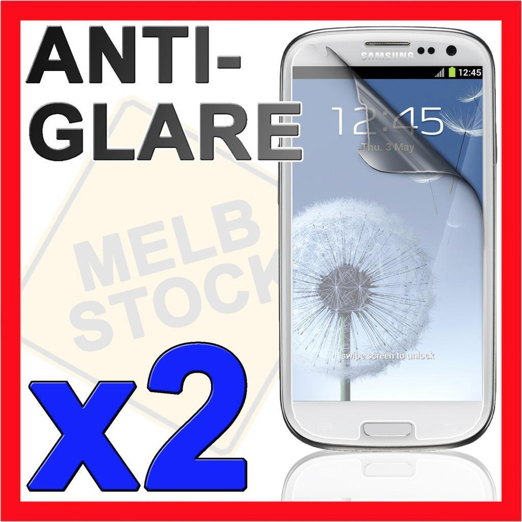 2x Anti Glare Matte LCD Screen Protector Film for Samsung Galaxy S3 SIII i9300