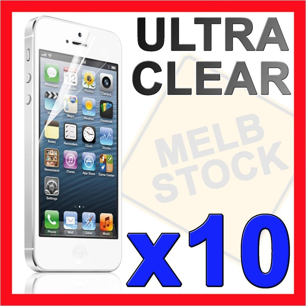 10x Ultra Clear LCD Screen Protector Film Guard Cover for Apple iPhone 5S 5C 5